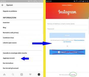gestire più account instagram